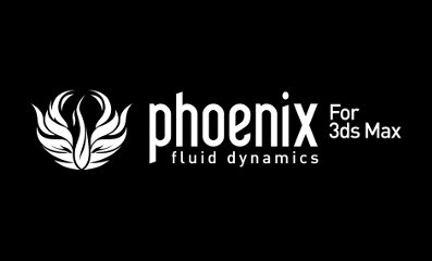 Phoenix FD for 3ds Max logo white 397
