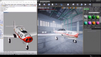 Real-time 3D design in Unreal Studio + Rhino by Mindesk